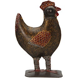 Wrought Iron Rooster Statue (India)