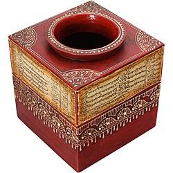 Embossed Calligraphy Decorative Vase (India)