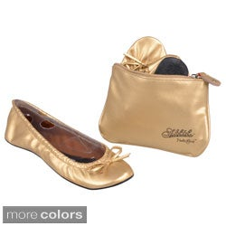 Sidekicks Imported Women's Foldable Ballet Flats