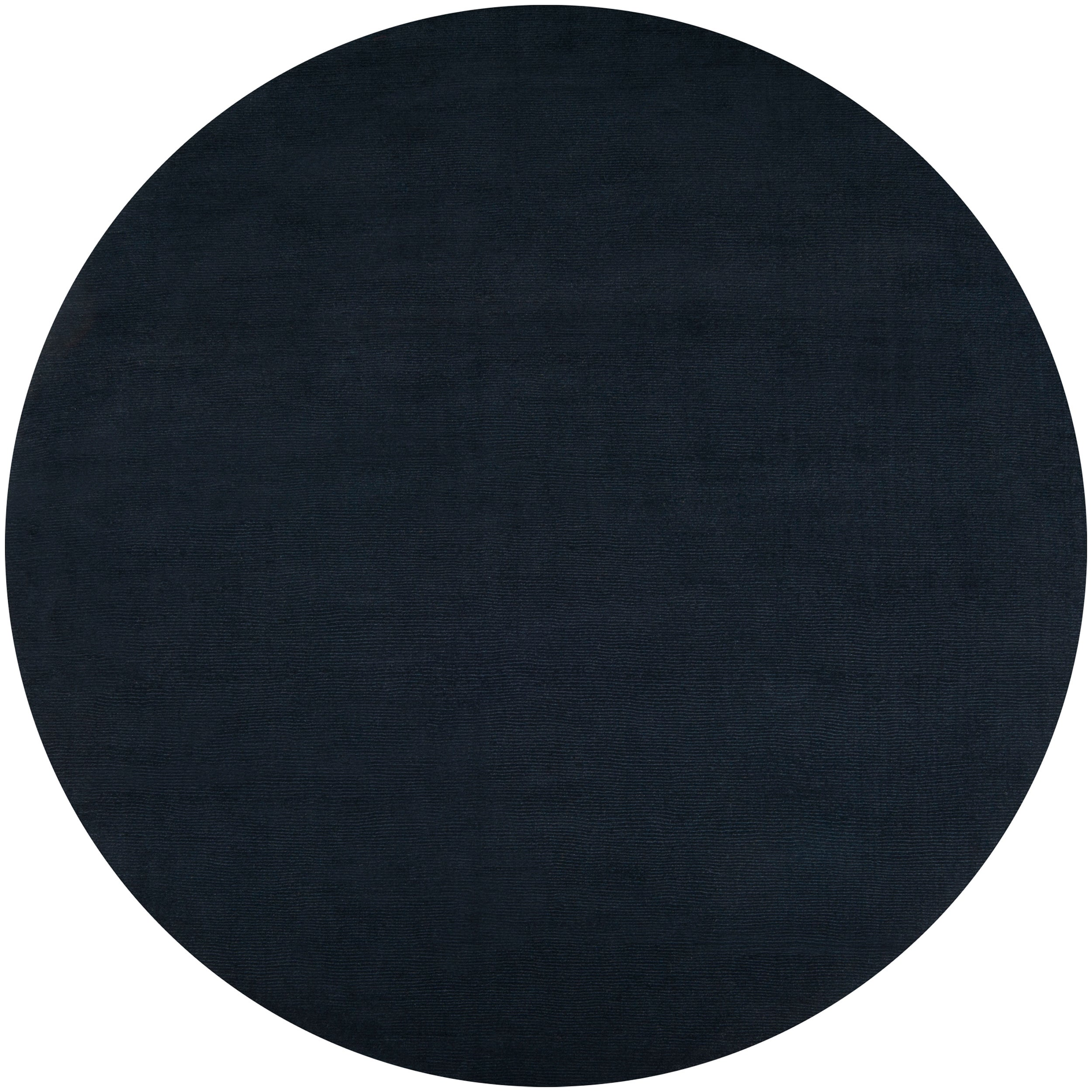 Hand Crafted Navy Blue Solid Causal Vaux Wool Rug 8