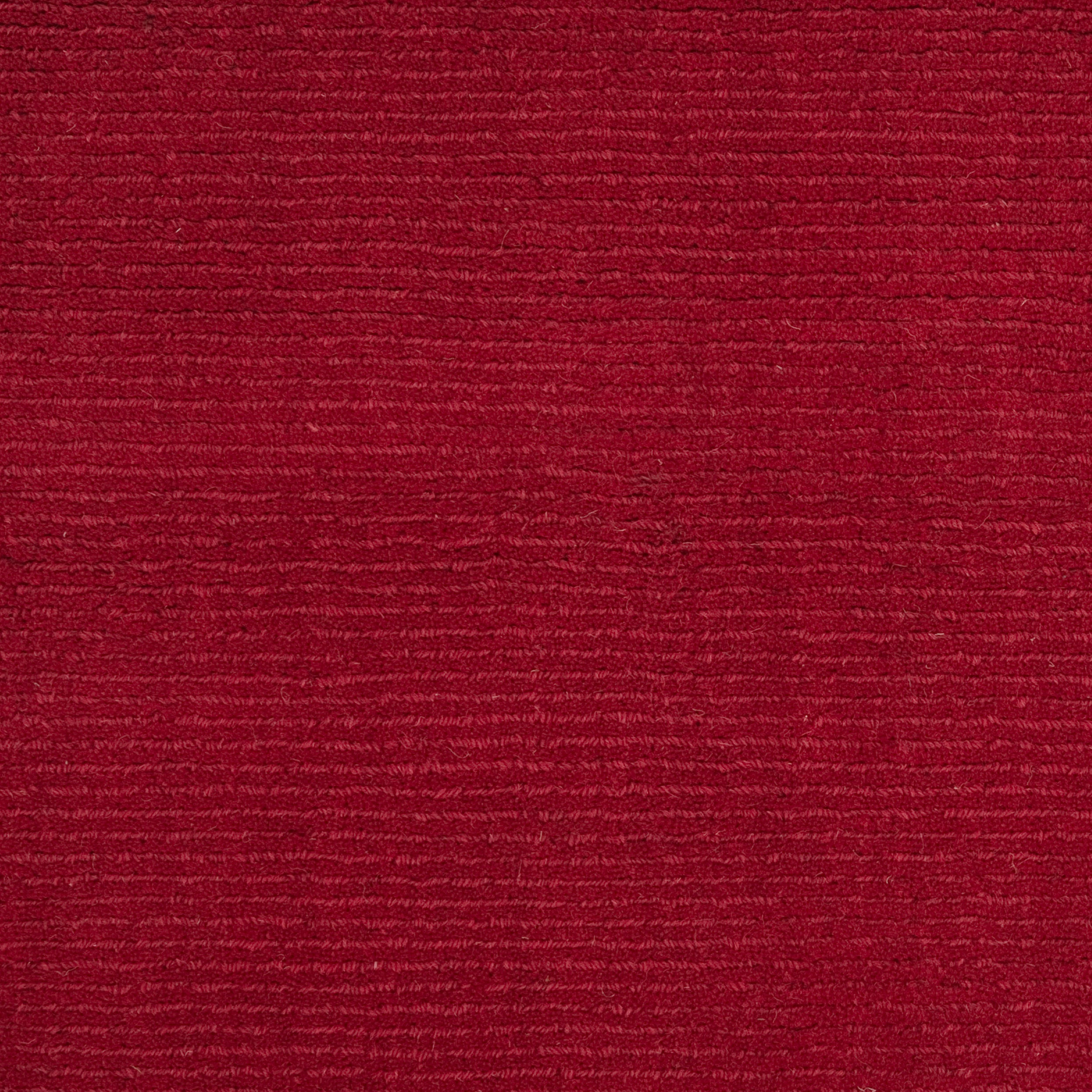 Hand-crafted Red Solid Casual Niss Wool Rug (9'9 Square)