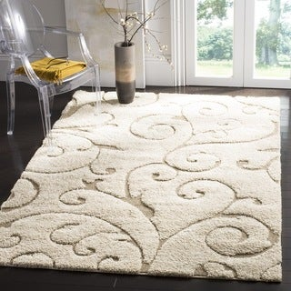 Safavieh Florida Ultimate Shag Cream/ Beige Rug (6' 7 Square)