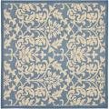 Safavieh Blue/ Natural Indoor Outdoor Rug (6'7 Square)