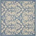 Blue/ Natural Indoor Outdoor Rug (7'10 Square)