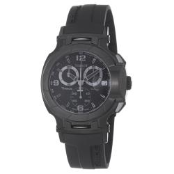 Tissot Men's T048.417.37.057.00 'T-Race' Black Chronograph Dial Black Rubber Strap Watch
