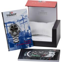 Tissot Women's 'T-Race' White Chronograph Dial Pink Rubber Strap Watch
