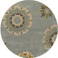 Hand-tufted Averlo Light Blue Rug (8' x 8' Round)