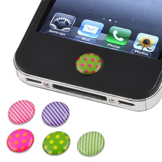 Dot/ Strip Home Button Sticker for Apple iPhone/ iPad (Pack of 6)