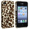Brown Leopard Rear Snap-on Case for Apple iPhone 4/ 4S