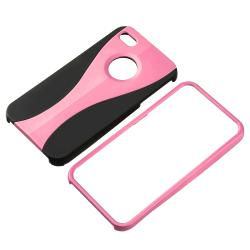 Baby Pink/ Black Cup Shape Snap-on Case for Apple iPhone 4/ 4S