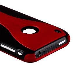 Red/ Black Cup Shape Snap-on Case for Apple iPhone 3G/ 3GS