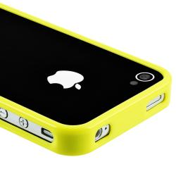Yellow Bumper TPU Rubber Skin Case for Apple iPhone 4/ 4S