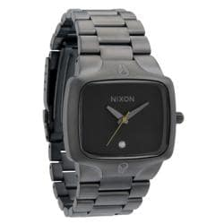 Nixon Men's 'Player' Stainless Steel Gunmetal Analog Watch