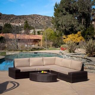 Christopher Knight Home Santa Cruz Outdoor Brown Wicker Sofa Set