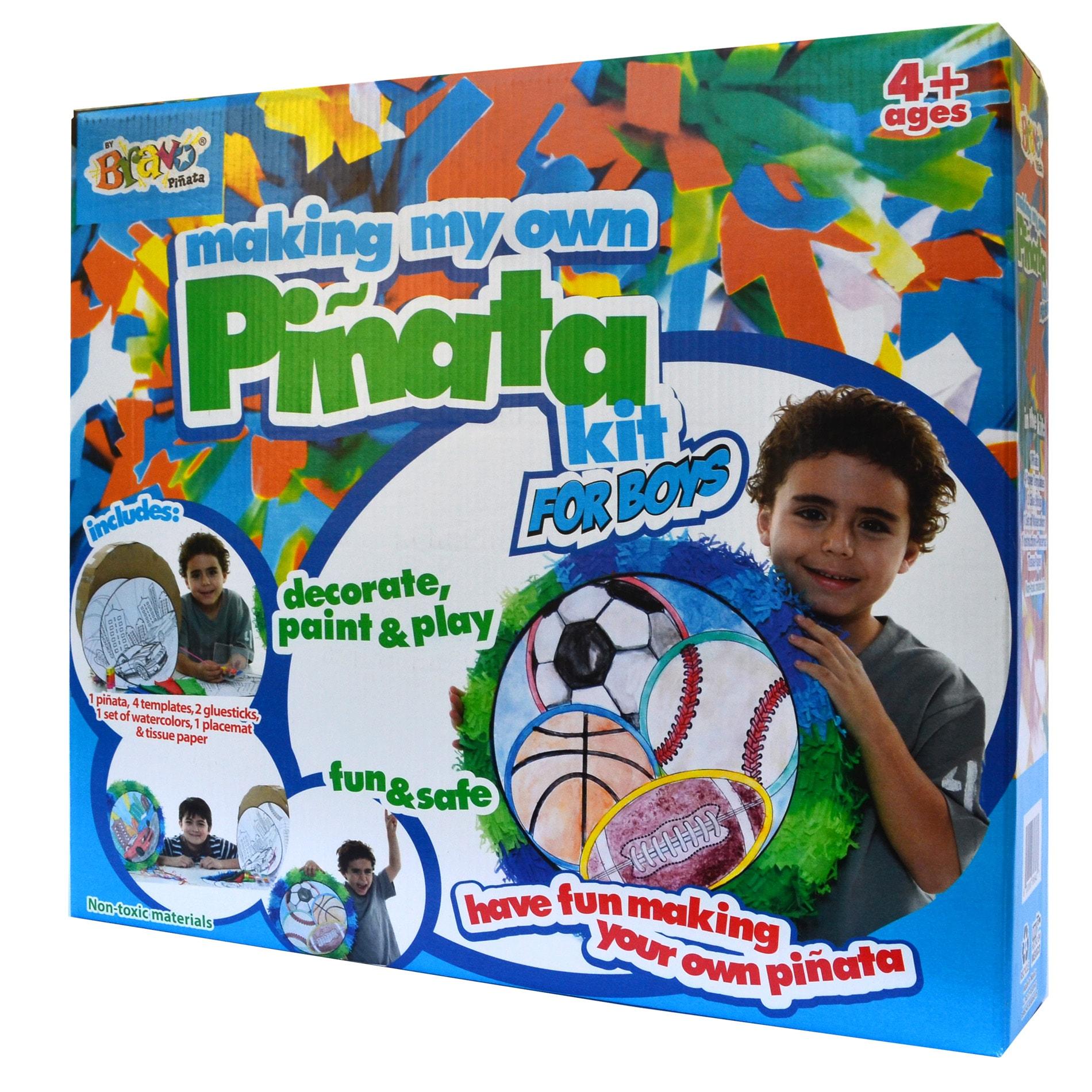 Making My Own Pinata Race Car - Sports Ball