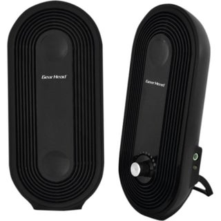 Gear Head SP2500USB 2.0 Speaker System - 3 W RMS - Black