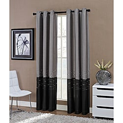 Horizon Embroidered Grommet 63-inch Window Curtain Panel
