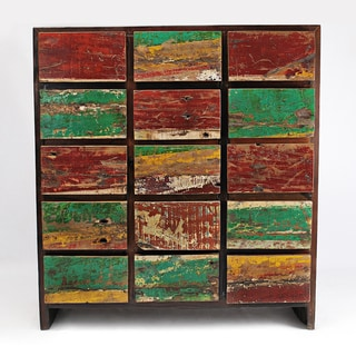 Ecological Furniture Reclaimed Mahogany Nautical 15-drawer Dresser (USA)