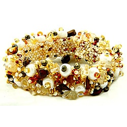Handmade Tiger's Eye Capullo Beaded Bracelet (Guatemala)