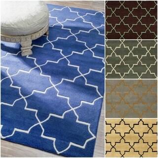 nuLOOM Handmade Moroccan Trellis Wool Area Rug (7'6 x 9'6)