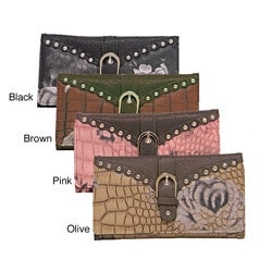 Donna Bella Designs 'Timeless Floral' Faux Leather Wallet