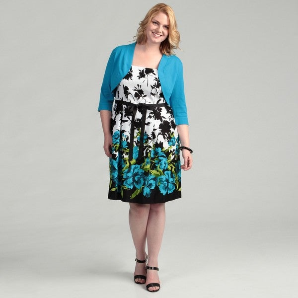 Jessica Howard Women's Plus Size Teal Sundress