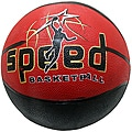 Size-seven Defender Black/Red Rubber Indoor/Outdoor Basketball