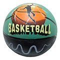 Defender Black/Green Indoor/Outdoor Rubber Basketball (Size Seven)