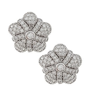 La Preciosa Sterling Silver Cubic Zirconia Earrings