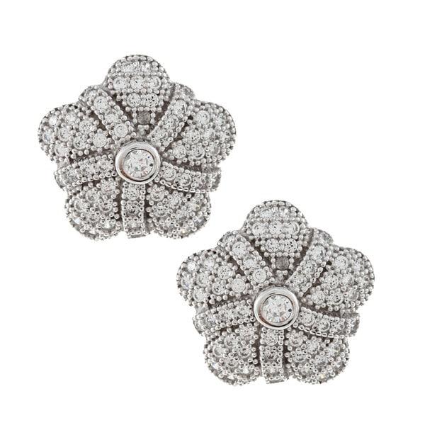 La Preciosa Sterling Silver Cubic Zirconia Earrings