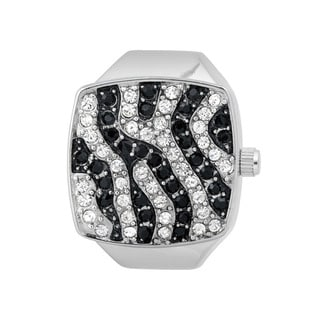Vernier Women's V903 Silver Zebra Print Ring Watch