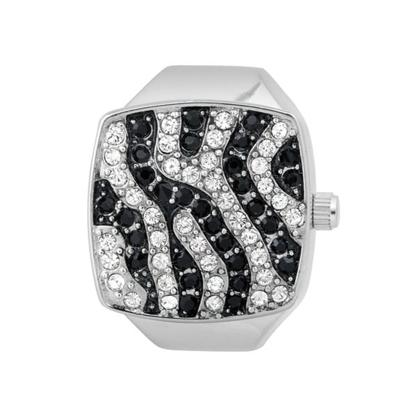 Vernier Women's V903 Silver Zebra Print Ring Watch