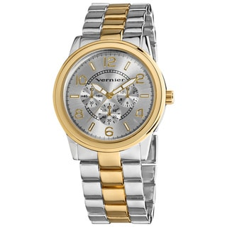 Vernier Women's V207 Round Two Tone Chrono Look Bracelet Watch