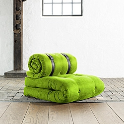 Fresh Futon 'Buckle Up' Lime Futon Chair