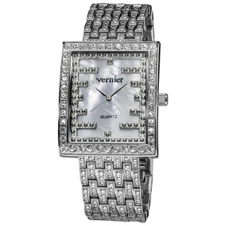 Vernier Woman's V1313 Sparkle Raised Relief Link Watch