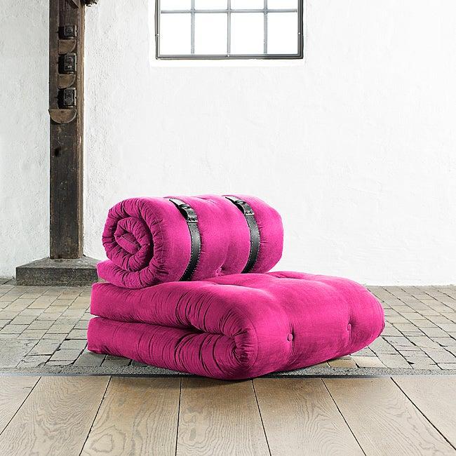 Fresh Futon 'Buckle Up' Pink Futon Chair