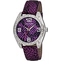 Vernier Women's V11097 Series Fashion Purple Snake Pattern Watch