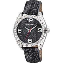Vernier Women's V11097 Series Fashion Grey Snake Skin Pattern Watch