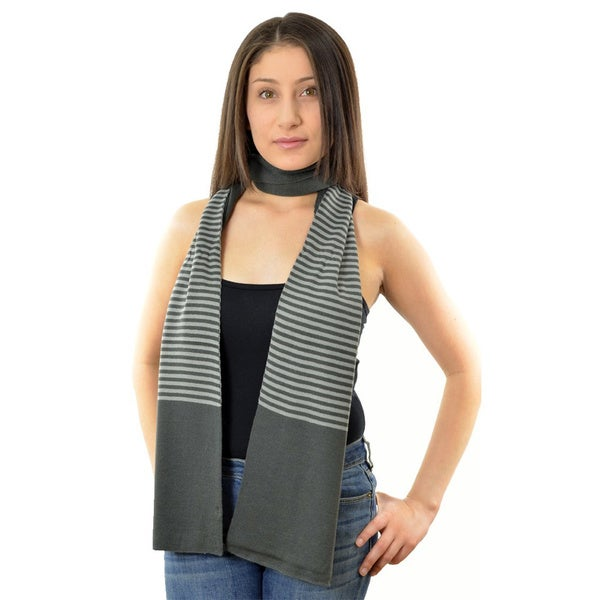 LA77 Grey Stripe Scarf