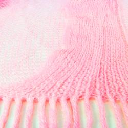 LA77 Solid Knit Fringed Scarf