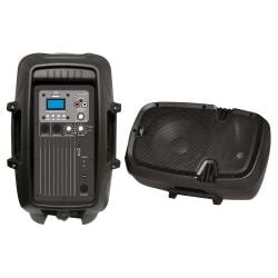 Pyle 8'' 600 Watt Powered Two-Way PA Speaker with MP3/USB/3.5mm Input