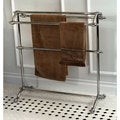 Vintage Pedestal Chrome-Finished Solid-Brass Towel Stand