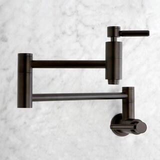 Oil Rubbed Bronze Wall-mount Pot-filler Kitchen Faucet