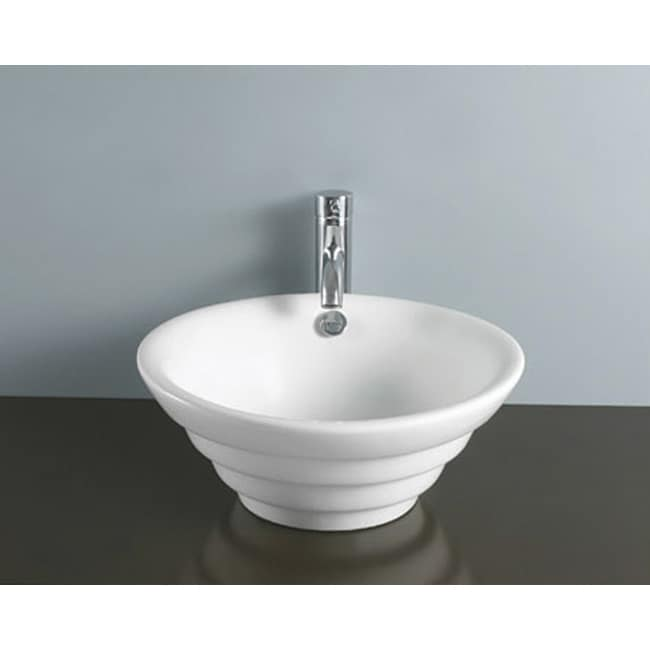 China Sink : Vessel Round Vitreous China Sink - 14083343 - Overstock.com Shopping ...