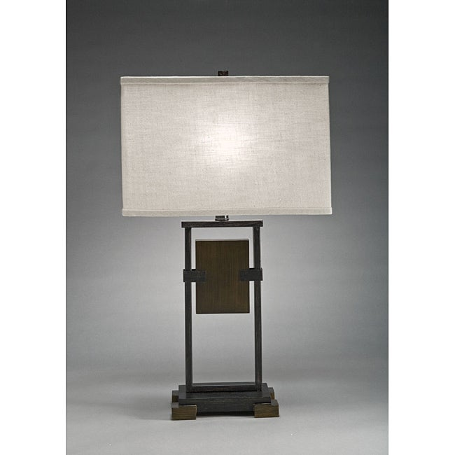 Aztec Lighting Transitional 1-light Cambridge Bronze Table Lamp