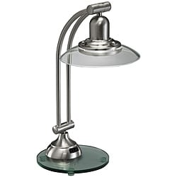 Aztec Lighting Contemporary 1-light Brushed Nickel Desk Lamp