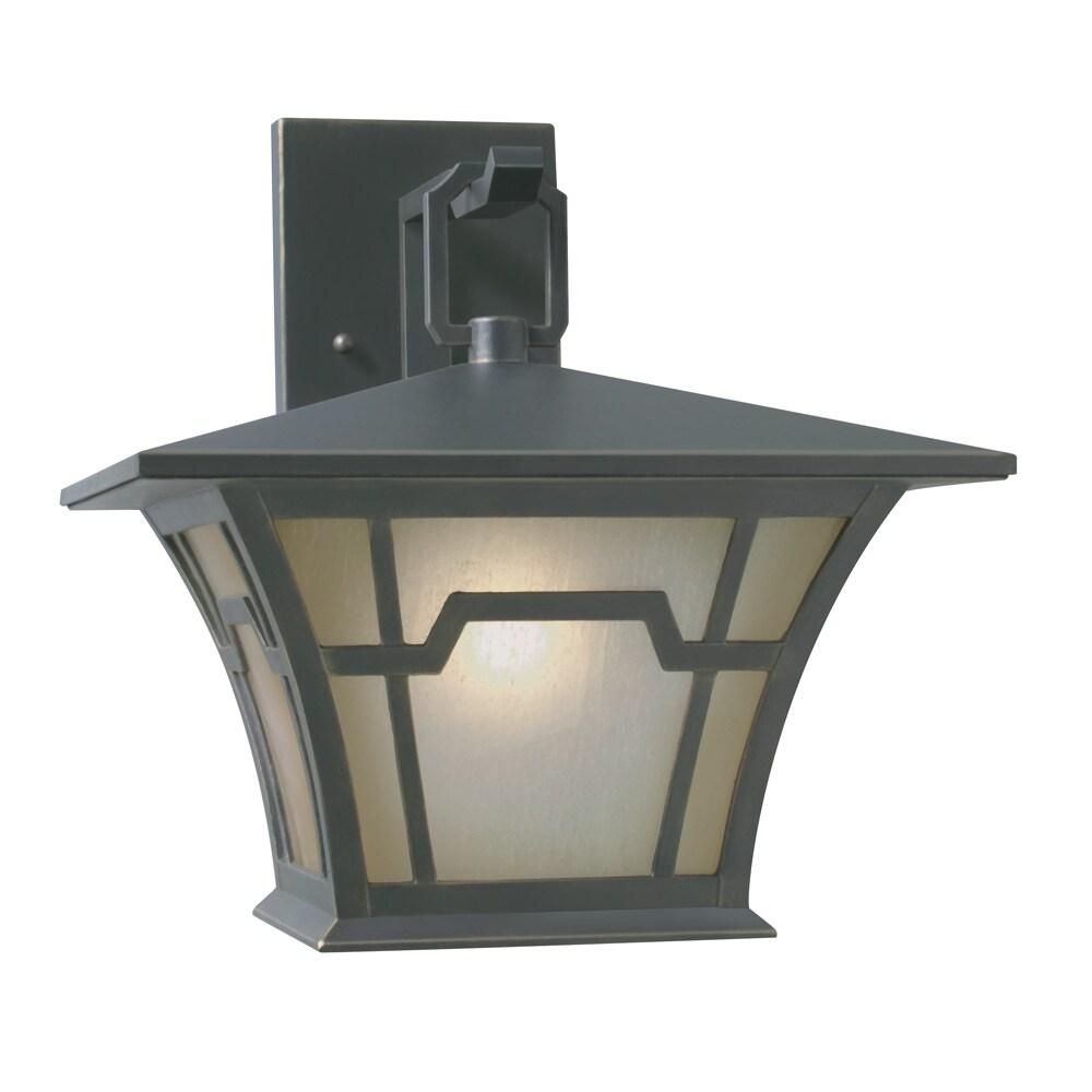 Aztec Lighting Transitional 1-light Saddle Bronze Outdoor Wall Light