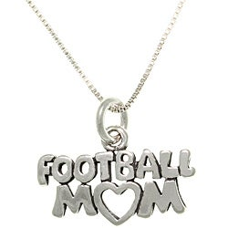 CGC Sterling Silver Football Mom Talking Necklace