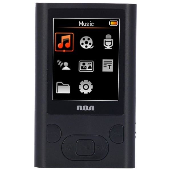 RCA M5504 4 GB Black Flash Portable Media Player
