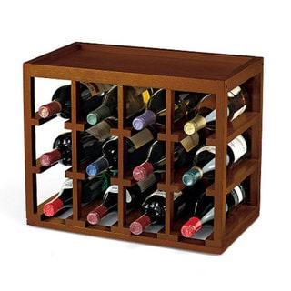 Wine Enthusiast 12-bottle Cube Stack Wine Rack